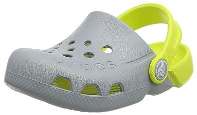 e84a84a6bc1342 Crocs Kids Unisex Electro (Toddler Little Kid) Light Grey Citrus 1 M