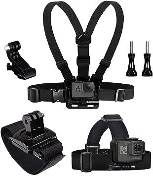 Kit 20 accessori per GoPro Fusion 6 5 4 3 3 2 1 supporto petto testa casco...