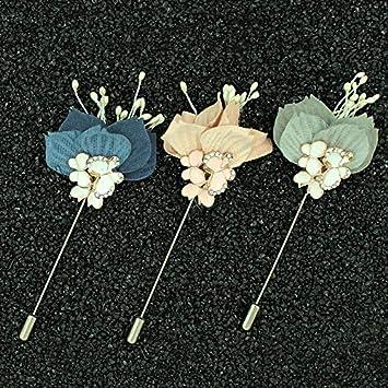 9cm*3.8cm Nowbetter Broche de Cristal para Boda o Fiesta dise/ño de Ramo con Mariposas incrustadas Broche para Mujer Azul