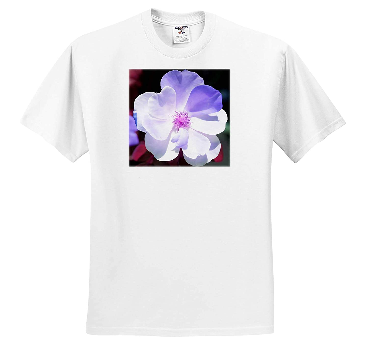 - T-Shirts Flowers Abstract Photo of a Rose Edited in Photoshop with an Oil Paint Filter 3dRose Stamp City