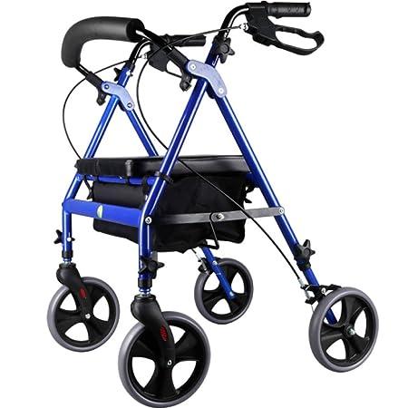 YAN-Walker Andador para Ancianos De 4 Ruedas | Deluxe Plegable ...