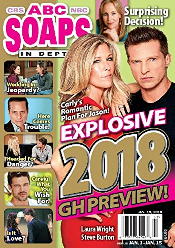 ABC Soaps In Depth Magazine - January 15, 2018 - Laura Wright & Steve Burton - General Hospital 2018 Preview