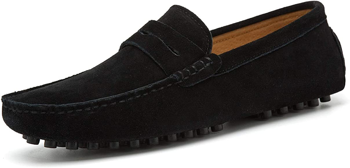 Go Tour Men's Penny Loafers Moccasin