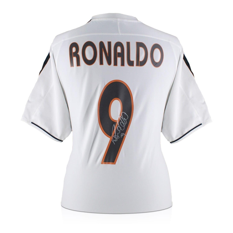 new concept b3fa7 a0943 Exclusive Memorabilia Ronaldo de Lima Signed 2003-04 Real ...