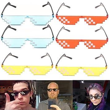 BuTi Mosaico Gafas Gafas pixeladas de Sol de Fiesta Gafas ...