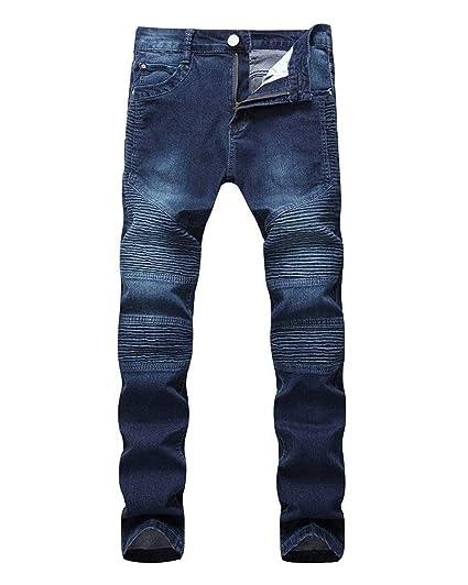 BOLAWOO Pantalones Vaqueros De Los Hombres Fit Vaqueros Slim ...