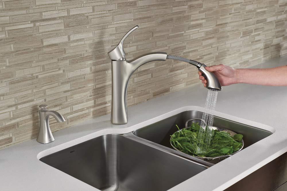 Moen S3948SRS Transitional Deck Mounted Soap Dispenser Spot Resist Stainless