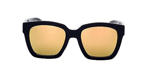 Personalidad De La Moda De La Calle Grande De La Caja Plana Gafas De Sol Gafas De Sol De Disparo Sra...