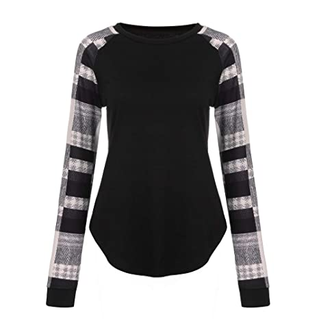 Amazon.com: 2019 Latest Hot Style!!! Teresamoon Fashion Women Stripe Casual Top T Shirt Ladies Loose Long Sleeve Top Blouse: Kitchen & Dining