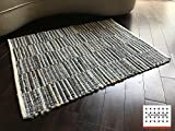 LOOMAGE INDIA Denim rug【Japan Produce】26.9×34.7inch