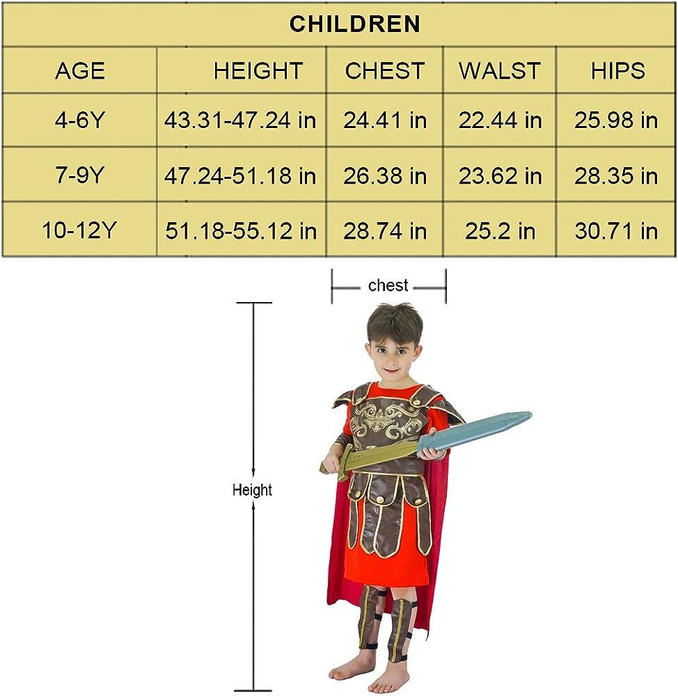 Kids Gladiator Halloween Costume Roman Warrior Dress Up Costumes