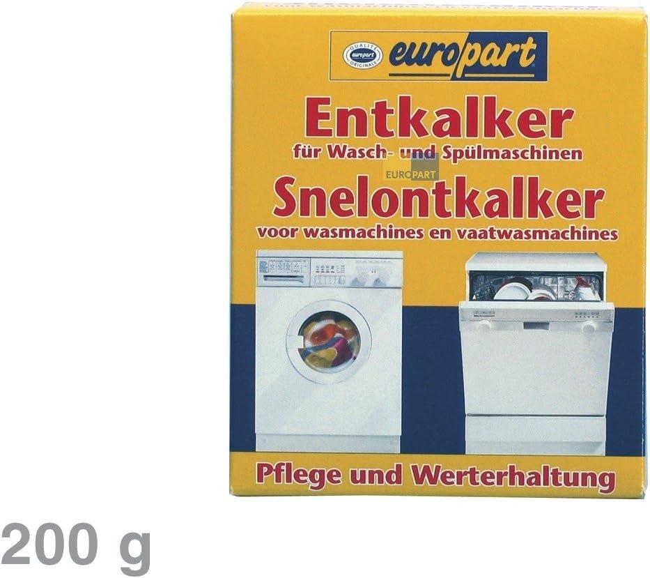 SET 6x ORIGINAL Europart 811714 10007690 Pflege Entkalker Schnellentkalker Zitronens/äure Reiniger Kalk Kalkablagerung Waschmaschine Sp/ülmaschine Geschirrsp/üler zur Pflege und Werterhaltung