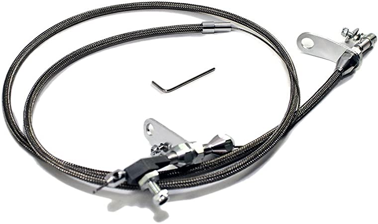 Assault Racing Products A2009 Chrysler//Plymouth//Dodge TF-904 Stainless Steel Braided Kickdown Cable Detent