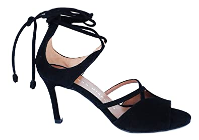 cf63edbf7a4e2c PEDRO MIRALLES Women s 18627 Sandals with Ankle Strap Black Suede ...