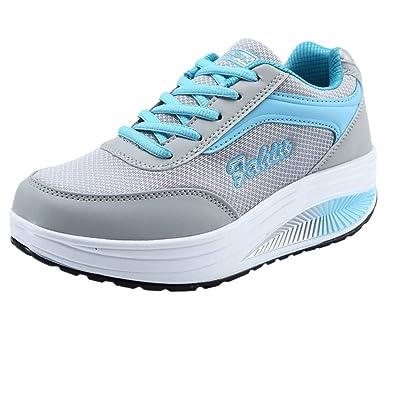 8e423bbf94e3d GongzhuMM Chaussures de Sport Femmes Chaussure de sécurité Chaussure de  Travail pour Dames Semelle Souple Chaussures