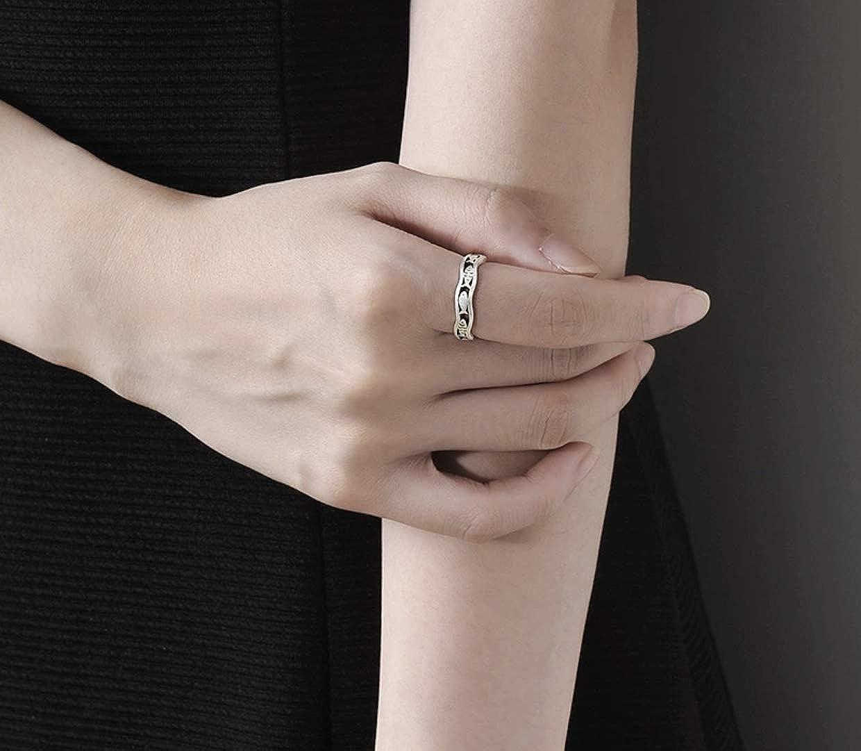 ajustable anillo de pez dise/ño retro dise/ño vintage Anillo abierto de plata de ley