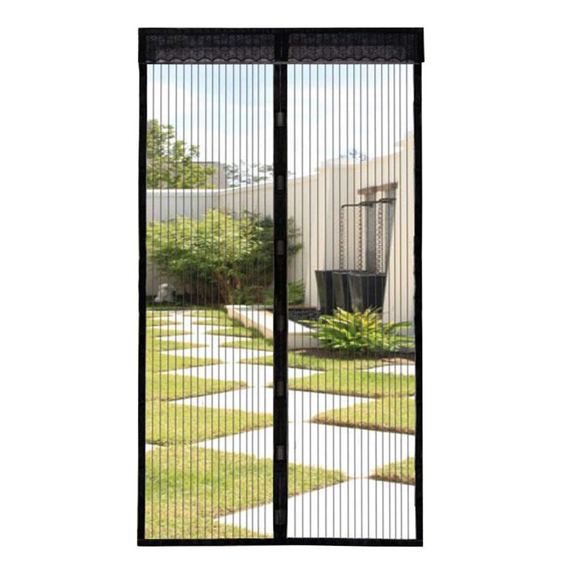 Fliegengitter Tür Magnet Insektenschutz Magnetischer Fliegenvorhang Moskitonetz Full-Frame-Klettverschluss Automatisch geschlossen Größe 90cm*210cm FuXing