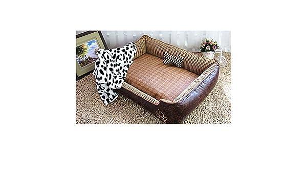 Cama para perro de World 9.99 Mall, cama suave para mascotas, Vintage, cueva para gatos y perros pequeños y medianos, de terciopelo de piel, tejido Oxford, ...