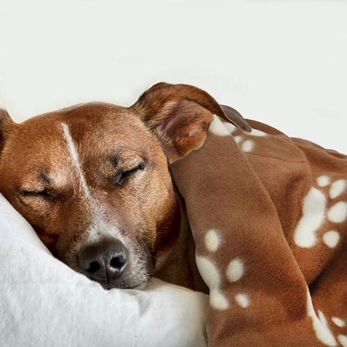 ZHONGGUOHAOGOU Suave Cachorro Manta de Dormir para Perros Gatos Gruesos Mantas Calientes Casa de Mascotas Cama para Dormir Estera de cojín Perrera con ...