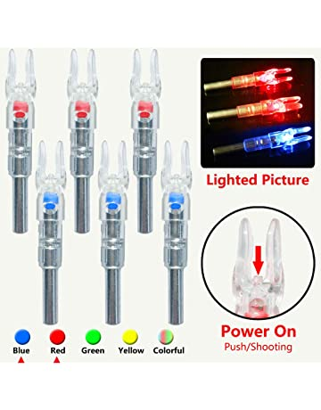 XHYCKJ 6PCS S Led Lighted Nocks for Arrows with .244