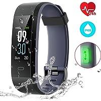 CHEREEKI Montre Connectée, Fitness Tracker Smartwatch Bracelet Connecté Podometre Tracker d'activité Etanche IP68 Femme Homme