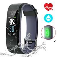 CHEREEKI Fitness Armband mit Pulsmesser, IP68 Wasserdicht Fitness Tracker Smart Watch