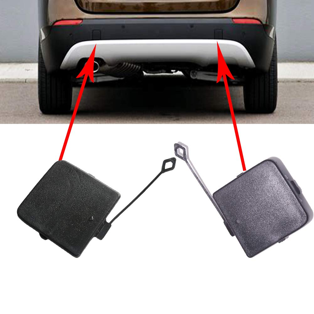 UPSM Rear Bumper Tow Hook Cover Cap 1 Pair Left And Right Fit for BMW X1 E84 2009-2012 51122990609 51122990610 Trailer Cover