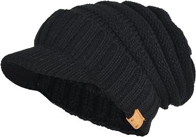 Womens Knitted Newsboy Cap