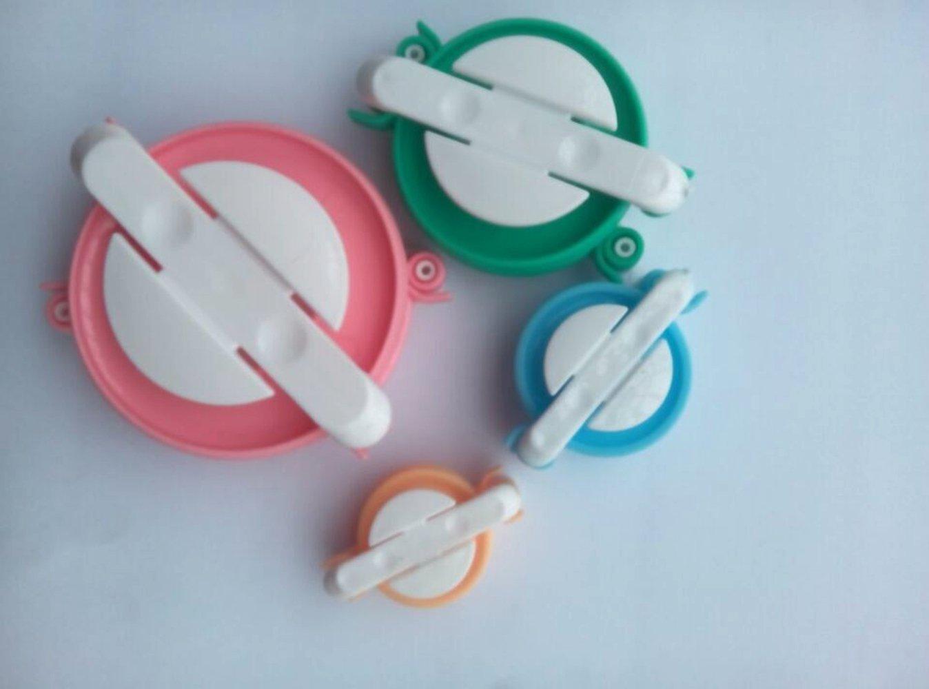 manualidades aguja juego de herramientas de decoraci/ón manualidades lana tejer para hacer pelotas de pelo paquete de 4 para pelo Juego de pompones para hacer pompones de bricolaje