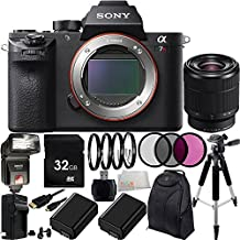 Sony Alpha a7R Mark II a7R II a7RII ILCE7RM2/B Mirrorless Camera with Sony FE 28-70mm f/3.5-5.6 OSS Lens 8PC Accessory Kit. Includes 32GB Memory Card + 2 Extended Life Replacement FW-50 Batteries + AC/DC Rapid Home & Travel Charger + MORE
