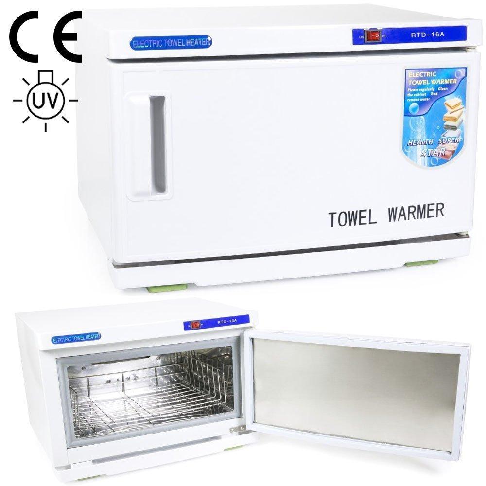 WYZworks Combination 2 in 1 Hot Towel Warmer Cabinet UV Sterilizer HMM-TOWLWRMR-RTD-16A