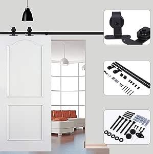 Rodillo para colgar puertas, color negro, para puerta corredera de ...