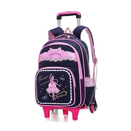 BAG Mochilas con Ruedas para niñas, niños, Mochilas Escolares, Ruedas, Trolley,