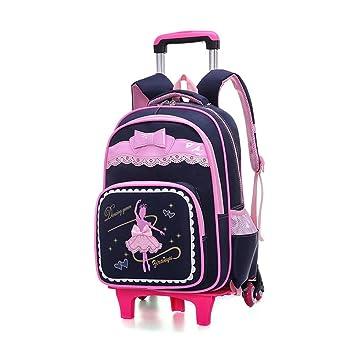 BAG Mochilas con Ruedas para niñas, niños, Mochilas Escolares, Ruedas, Trolley, Mochilas Escolares, Mochilas, Bolsas de Equipaje: Amazon.es: Deportes y aire ...
