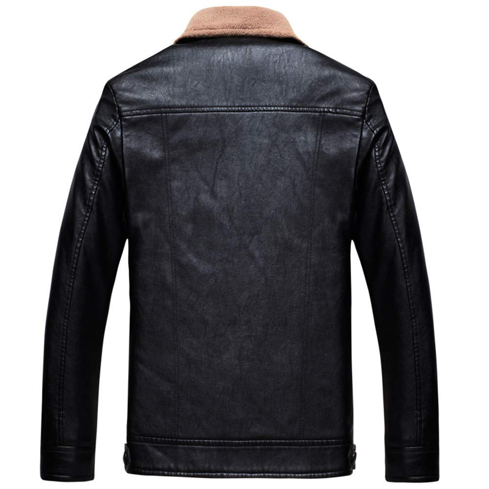 Amazon.com: Clearance Sale for Men Coat.AIMTOPPY Fashion Mens Warm Jacket Long Sleeve Plus Velvet Leather Jacket: Computers & Accessories