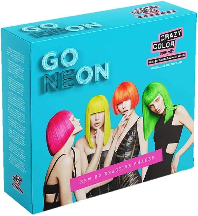 El tinte para cabello semi permanente Go Neon UV - Crazy Color