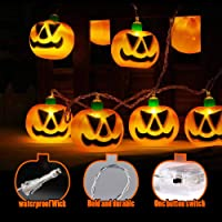Big Pumpkin Shape Halloween 10-LED String Lights (Battery Powered)