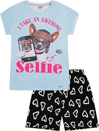 Pijama corto para niña Awesome Dog Selfie