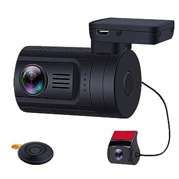 Blueskysea Mini 0906 GPS Dual Dash Cam Condensador de la cámara del coche con vista posterior