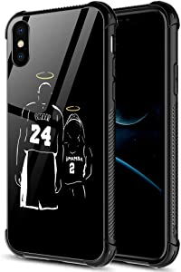 iPhone XR Case,Basketball Player 12 iPhone XR Cases for Girls Men Boy,Shockproof Non-Slip Tempered Glass Pattern Design Case for Apple XR 6.1-inch