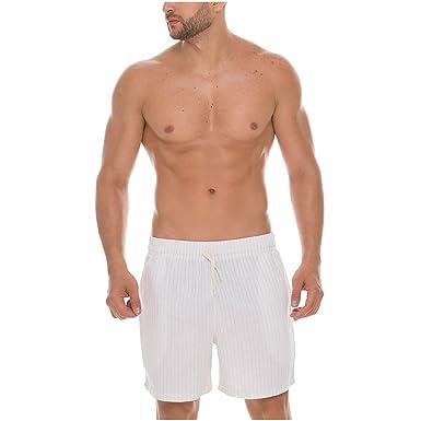 Mundo Unico Men 100 Cotton Pajama Shorts Pijalla para Hombres Beige S