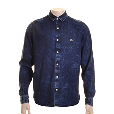 22f7ab44a16 Lacoste Live - Lacoste L!ve CH0783 Sky Bleach Denim Shirt