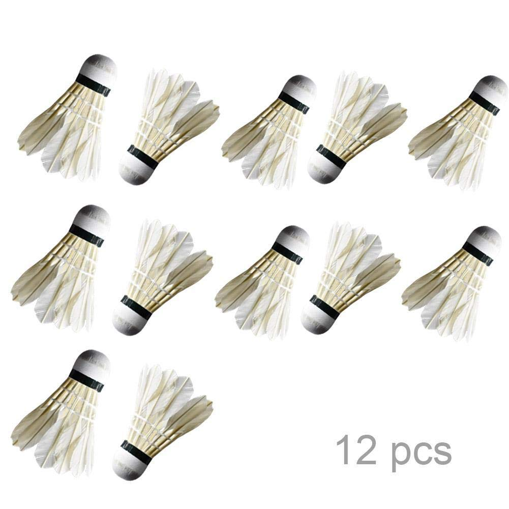 Nylon Shuttlecocks Indoor Outdoor Sports Hight Speed Training Badminton Birdies Balls Great Stability and Durability nanshoudeyi 12-Pack Feather Badminton Shuttlecocks