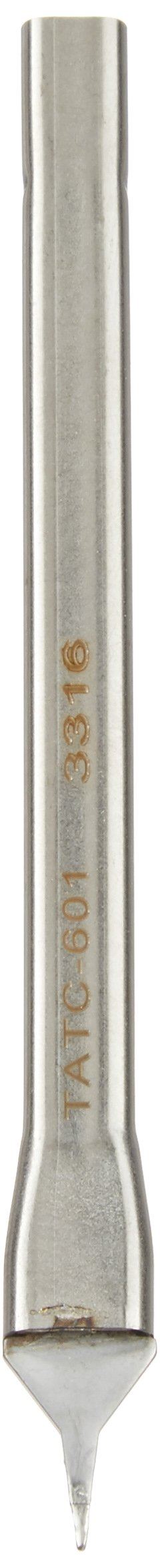 Metcal TATC-601 Series TATC Talon Cartridge for Temperature Sensitive Applications, 675°F Maximum Tip Temperature, Fine Point, 0.5mm Tip Size, 12.45mm Tip Length, 0.35mm Tip Thickness