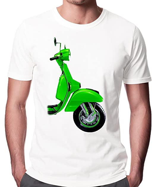 Verde Vespa Fashion Calidad para hombre papel de pared de T-camiseta de manga corta