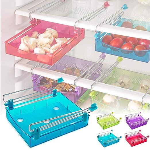 EFGS Cocina Refrigerador Cajón, Ajustable Cajas Almacenaje Fácil ...