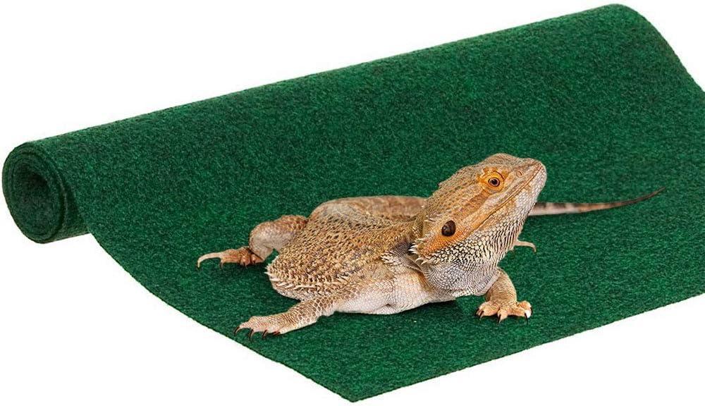ZYZ Reptile Carpet Coconut Fiber Substrate Lizard Cage Mat Fiber Liner Snake Bedding Natual Coconut Fiber Carpet Chew Safe and Paw Friendly