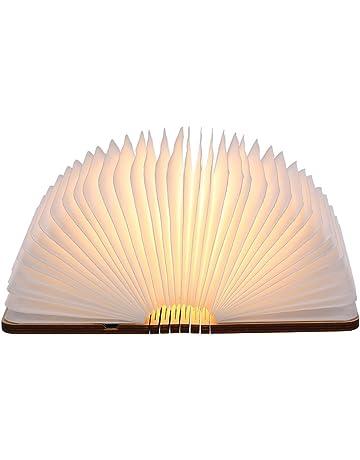 Tomshine Lámpara de Mesa,Lámpara de Libro Recargable USB,Lámpara de Noche,Blanco