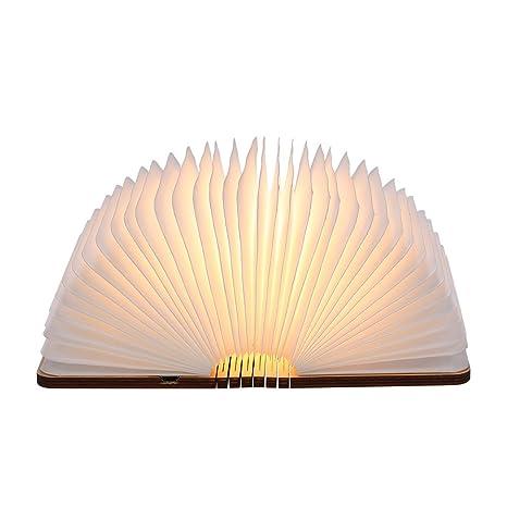 tomshine  lampada Libro USB Ricaricabile, Tomshine Lampada Led a Forma di ...