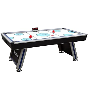 Harvil 7 Foot Air Hockey Game Table Full Size For Kids And Adults With  Powerful Dual
